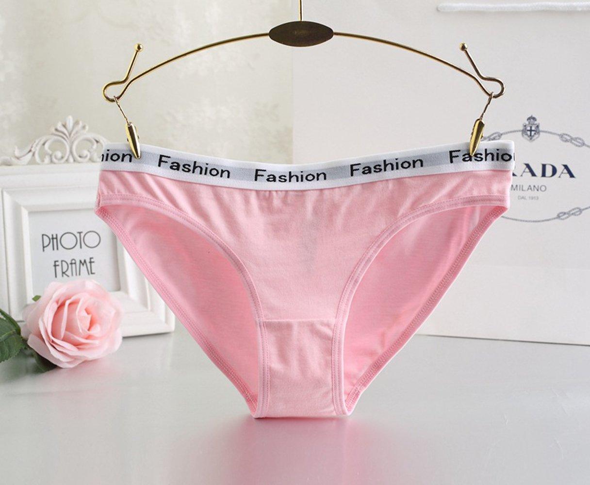 Zooma Frauen Unterwäsche Damen Pantys Hipster Panties aus Baumwolle , Rosa - 4er Pack, 3XL/EU48 Taille:44\'\'-48\'\'