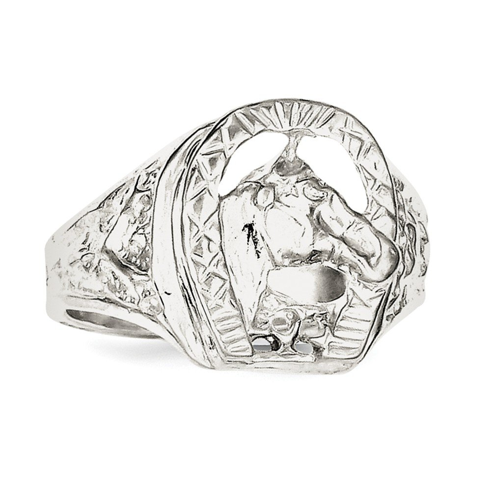 925 Sterling Silver Horseshoe Ring Fine Jewelry Ideal Gifts For Women