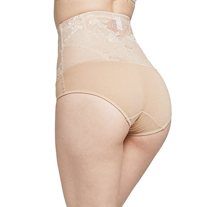 07d1231b25156 Queenral Women s Shapewear Hi-waist Full Brief Firm Control Tummy Slimming  at Amazon Women s Clothing store