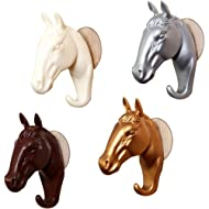 Horse Head Wall Hooks - Handcraft Coat Racks - Towel Racks, 4 PCS