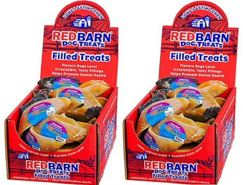 Red Barn Dog Treats Filled Hooves Peanut Butter 50ct (2 x 25ct) by REDBARN