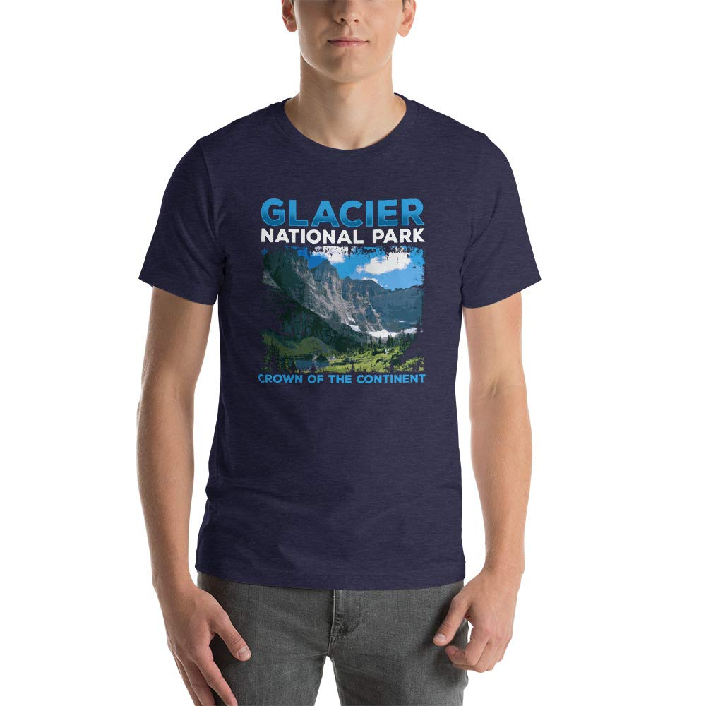 Glacier National Park Crown of The Continent Short-Sleeve Unisex T-Shirt