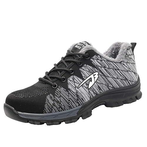 Zapatillas de Seguridad para Hombre Antideslizante Calzado de ...