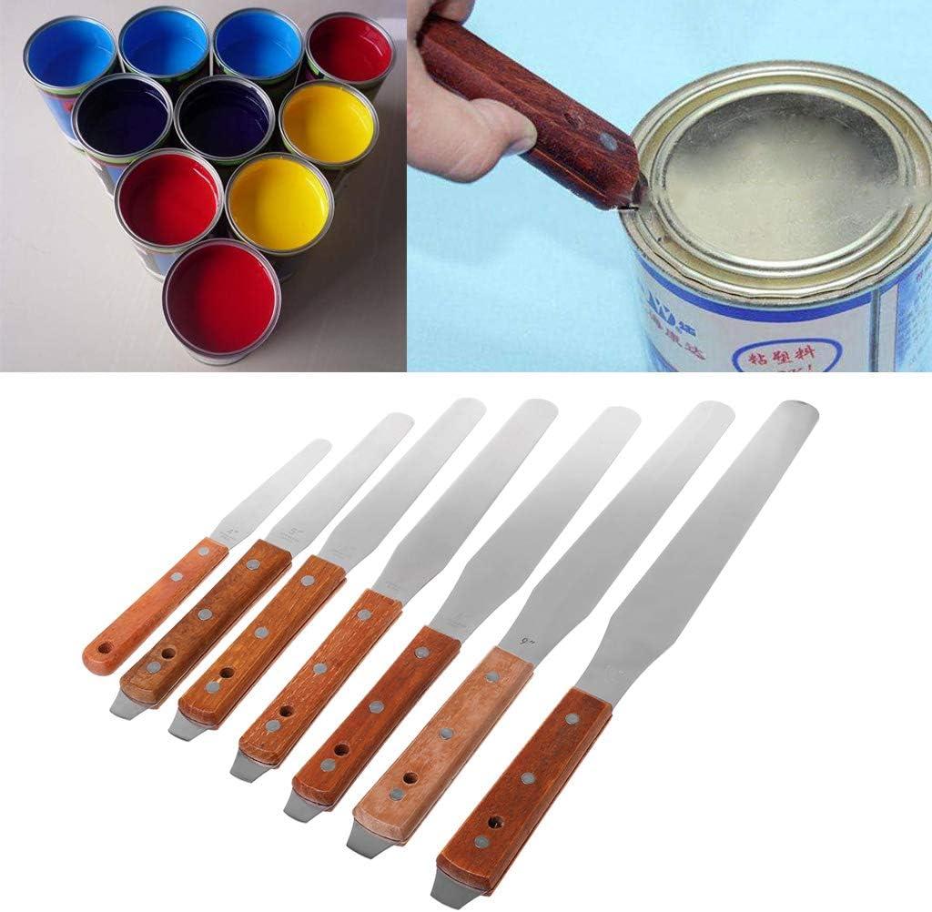 5 Yintiod Grattoir en acier inoxydable pour m/élange de peinture