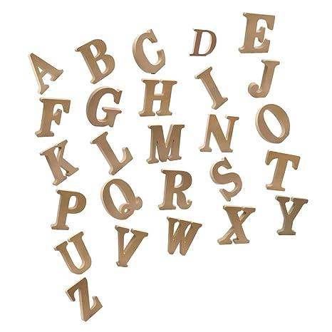 Sharplace 26pcs Lettera Alfabeto In Legno A Z Abbellimenti A