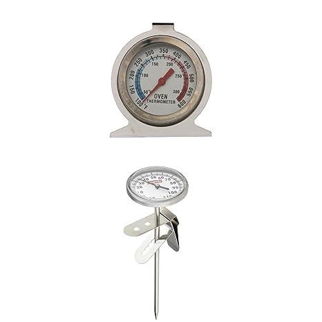 fenteer 2pcs Termómetro termómetro de horno termómetro al vapor de café y leche
