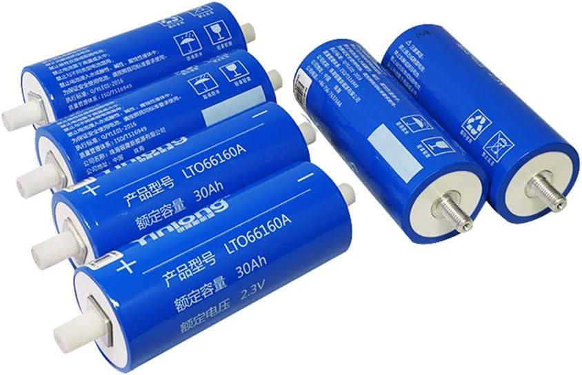 66mm/×160mm 2.3V 30Ah/×6pcs 6PCS Yinlong 2.3V 30ah 35ah 40ah LTO Batterie cellule 66160H 2.4V Lithium Titanium Batterie doxyde pour E-bike Automobiles Buses Railroad Cars RV