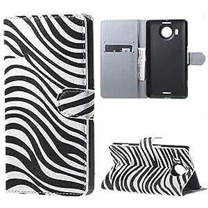 Painted Colorido Serie PU Cuero Cartera Caso cubrir Funda para Microsoft Lumia 950 XL Case Carcasa protectora piel Shell con ranuras Tarjetas (09#)