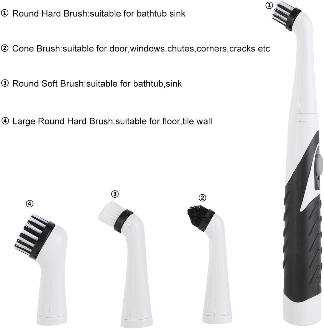 Leyeet - Cepillo de limpieza eléctrico sónico, 4 en 1, para baño ...