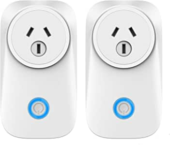 WiFi Smart Plug Compatible with Alexa Google Assistant IFTTT Siri Shortcut, App Control Timer Schedule Smart Outlet, No Hub Required, FCC Certified Smart WiFi Socket - 2 Pack