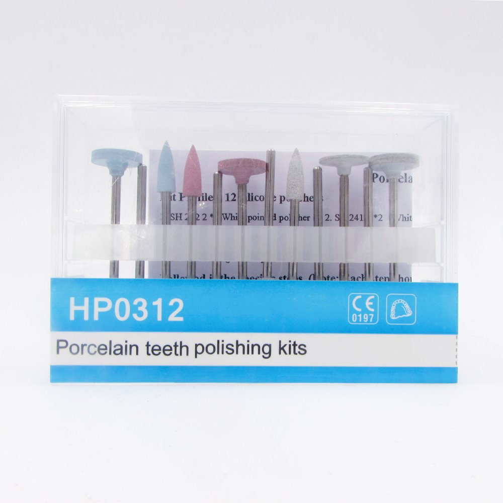12pcs Dental Resin Base Hidden Denture Polishing Kits HP0312 Used for Low-speed Handpiece by Dr. House