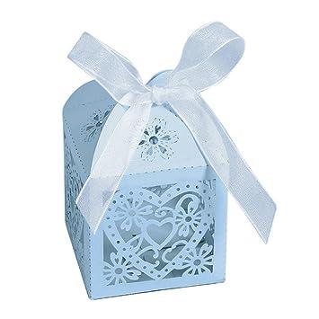 Amazon.com: kslong 50pcs romántica boda Favor bolsas de ...