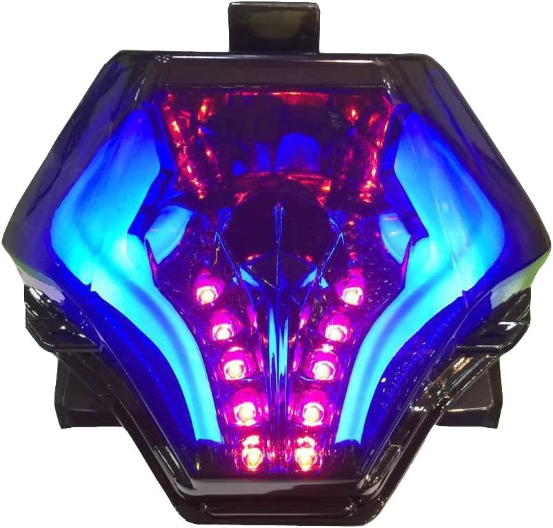 Blue 2015-2017 15 16 17 2015 2016 2017 Yamaha YZF-R3 R25 FZ-07 FZ07 MT07 MT25 Integrated LED Tail Light with Turn Signals