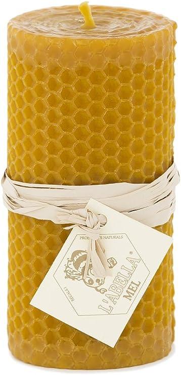 L Abella 100% Cera de Abejas Vela de España – Producto Natural – Directamente Desde el Apicultor – – Aroma de Miel en Mano – 1 Vela con Aprox. 10 cm x 5 cm: Amazon.es: Juguetes y juegos