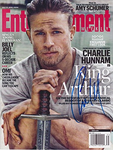 Charlie Hunnam signed Entertainment Weekly magazine