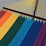 Double Caribbean Hammock - 48 inch - soft-spun polyester - rainbow