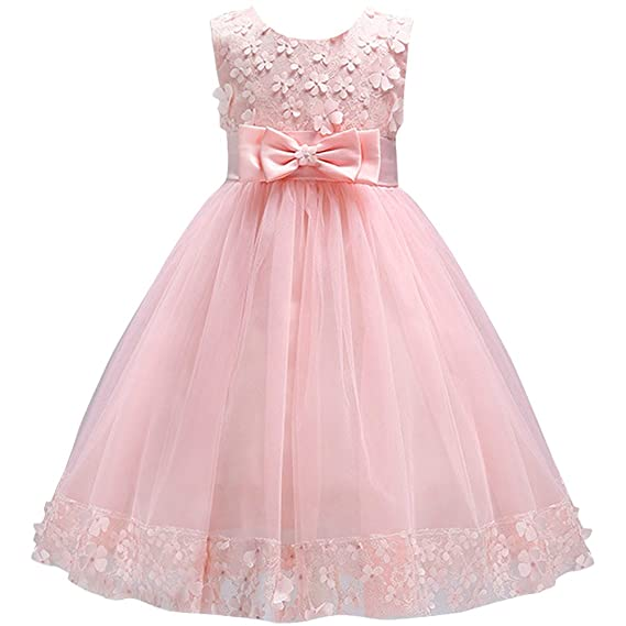 IBTOM CASTLE Big Little Girl Lace Flower Tulle Dresses Wedding Party ...