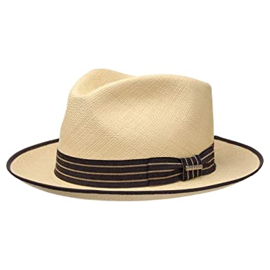 Stetson Calenton Player Panama Hat Men Made in Ecuador Straw Trilby Summer with Grosgrain Band Spring-Summer