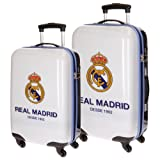 Set Maletas ABS Real Madrid 4 Ruedas 55 y 67 cm
