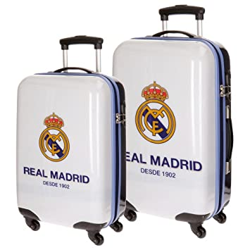 Real Madrid One Color One Club Equipaje Infantil, 67 cm, 86 litros, Set de 2, Blanco: Amazon.es: Equipaje