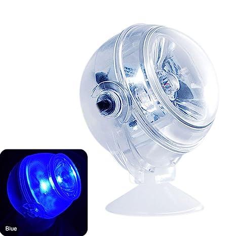 Dxlta LED acuario Tanque de pescado Iluminación LED Iluminación submarina impermeable Noche marina / Luz de