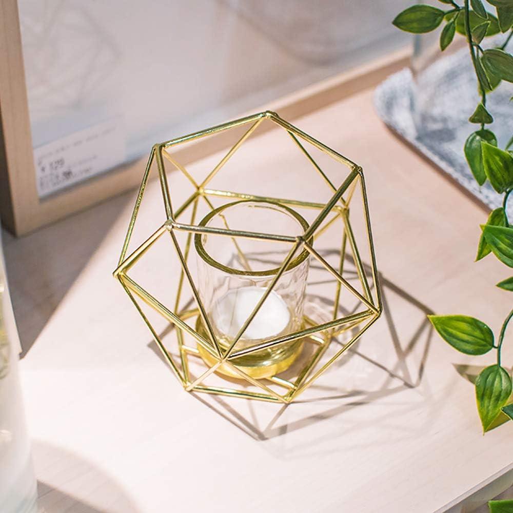 B Blesiya 7er-Set Nordischer Draht Kerzenhalter Kerzenst/änder Teelichthalter Hochzeitsdekoration