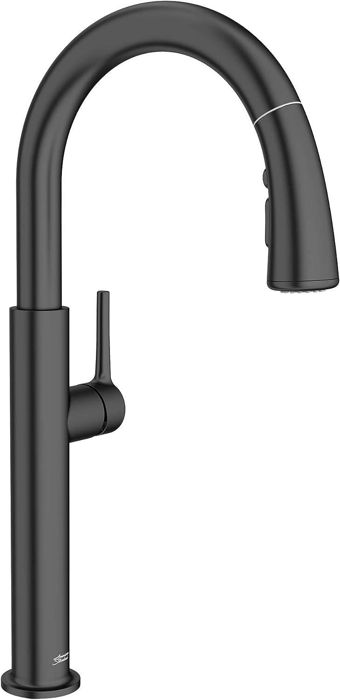 American Standard 4803300.243 Studio S Pull-Down Kitchen Faucet, Matte Black