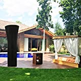 SIRUITON 2 Pack Patio Heater Covers Waterproof with Zipper Fire Black-24 Months of use H89xD33x19 in