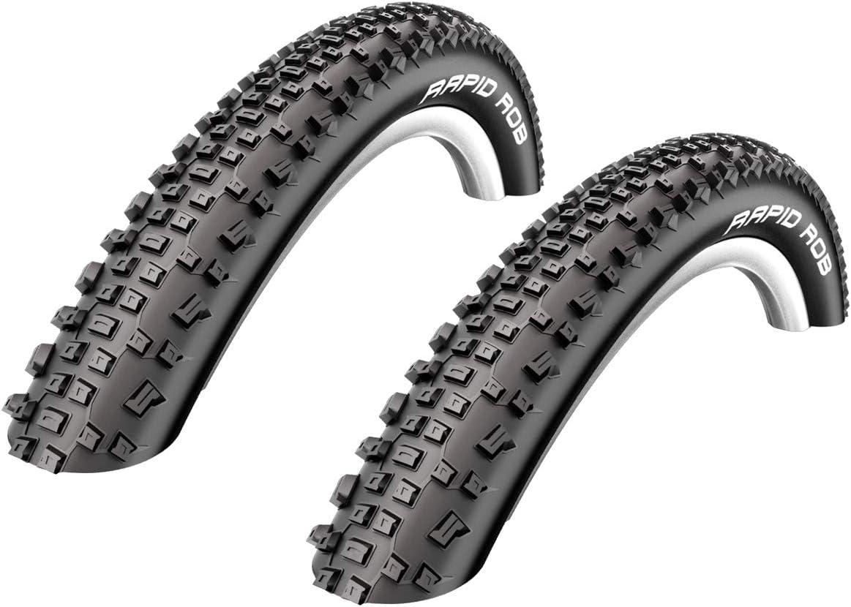 2 x Schwalbe Rapid Rob Neumático de la bicicleta Abrigo Cubierta ...