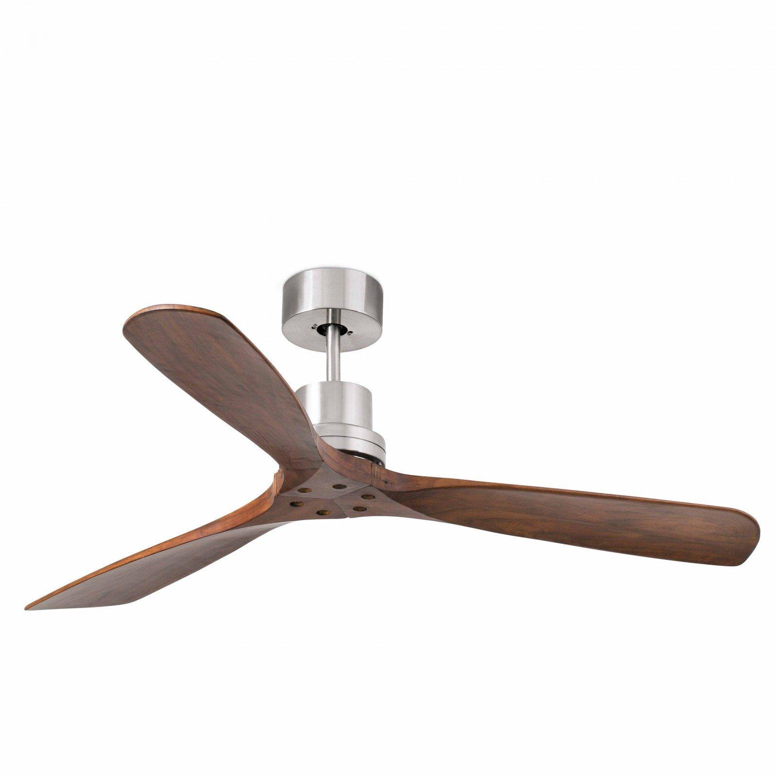 Ventilateur de plafond Lorefar Lantau Faro 33370Nickel mat avec 3sombres en bois de noyer flà ¼ geln 132cm diamètre avec télécommande 3vitesses product image