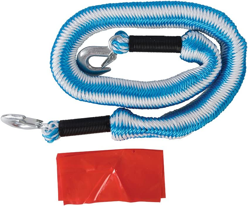 Silverline Tools 425492 2 Ton Elasticated Tow Rope Blue