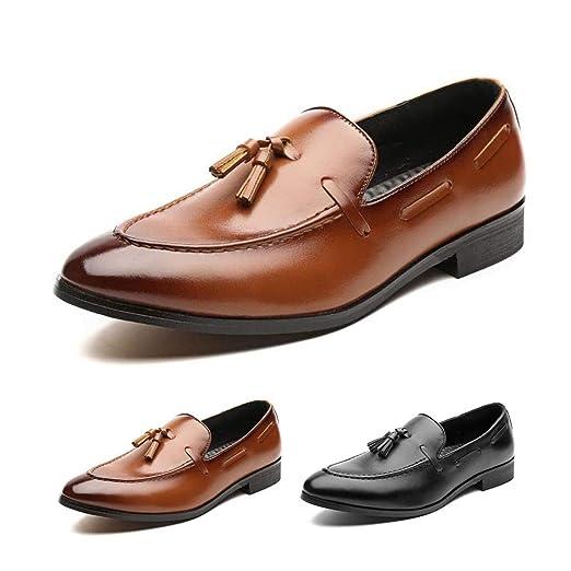 HILOTU Zapatos De Vestir para Hombres Zapatos Formales De ...