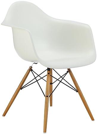 Delightful Vitra 4401120011 Stuhl DAW Eames Pl.Armchair Gestell Ahorn Gelbl.Schale,  Weiß Awesome Ideas