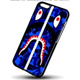 bape shark blue camo for iPhone 6/6s Black Case