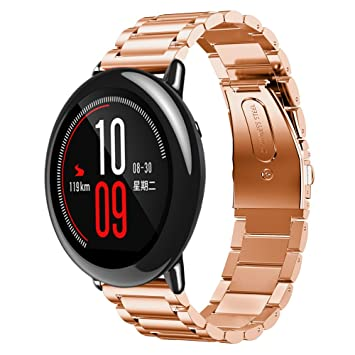 Pulseras de Repuesto, Zolimx Brazalete de Acero Inoxidable Pulsera Smart Watch Correa para Xiaomi Huami Amazfit