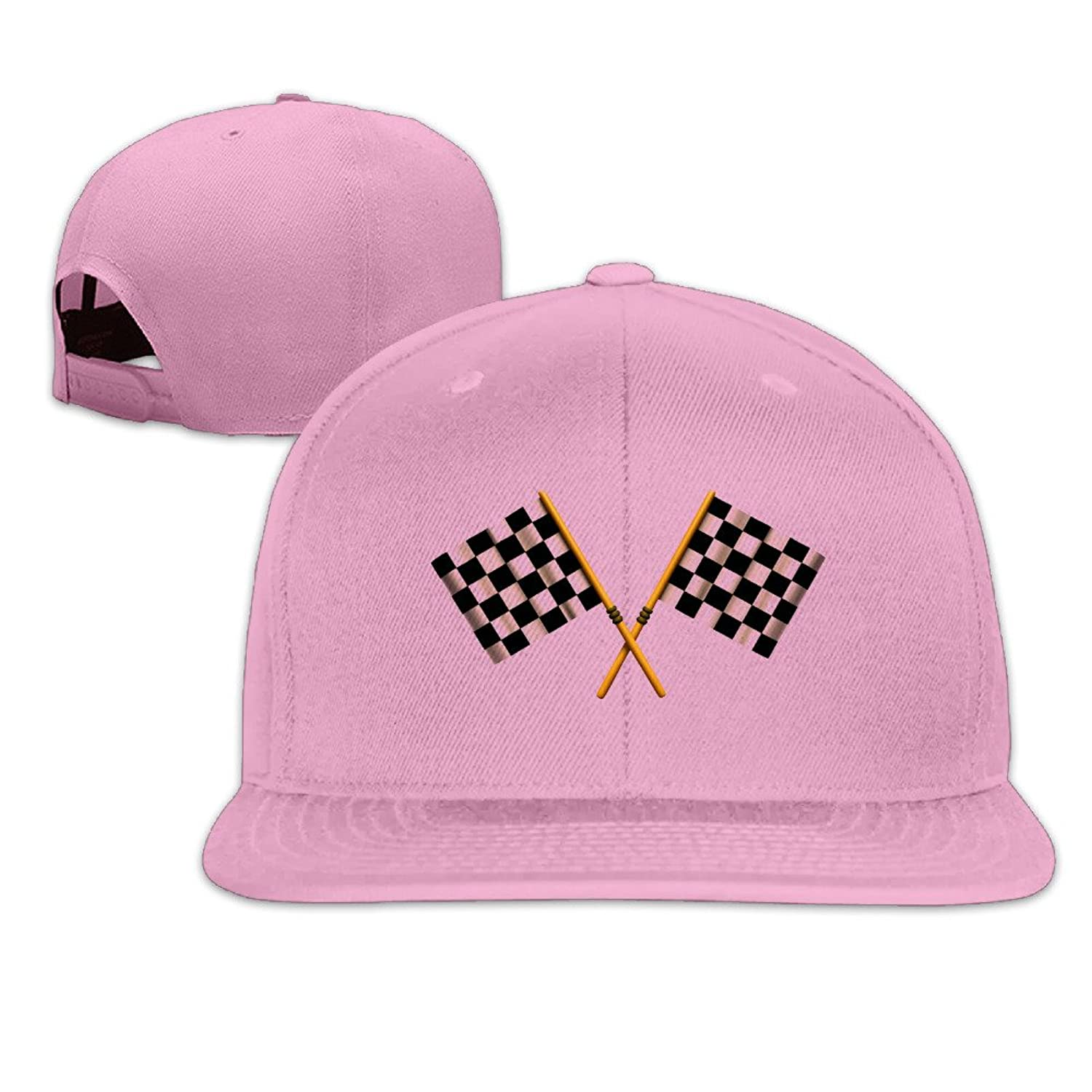 Checkered Flag Funny Fitted Hats Jogger Snapback