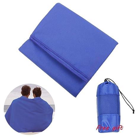 Toalla de secado rápido, gran toalla de microfibra Ultra compacta absorbente baño gimnasio toallas de
