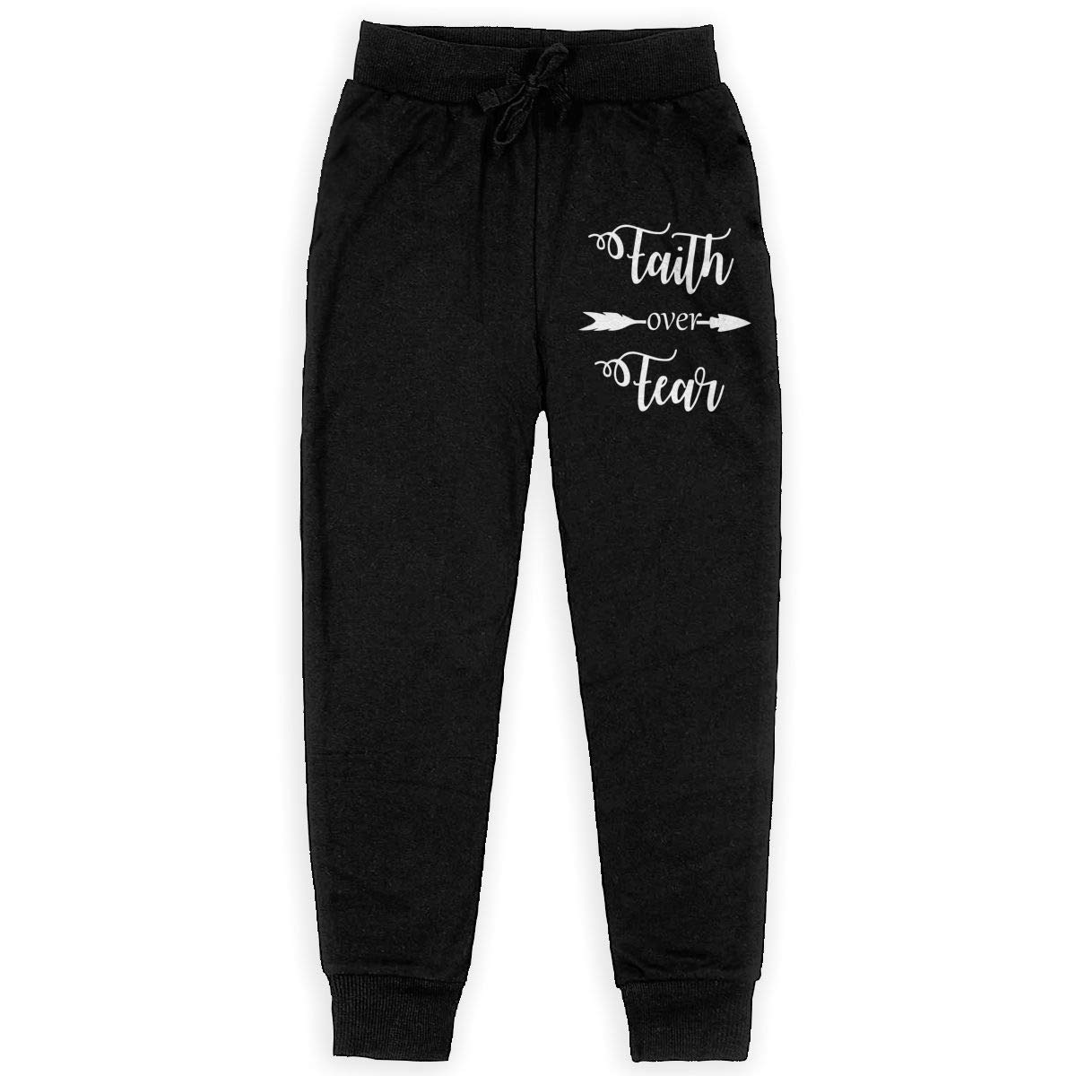 Faith Over Fear Soft/Cozy Sweatpants Girls Active Pants for Teen Girls  Clothing Boys