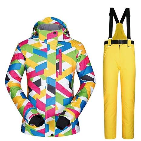 Klerokoh Chaqueta de esquí para Mujer, Traje de Nieve Debajo del Conjunto de Abrigos Cero