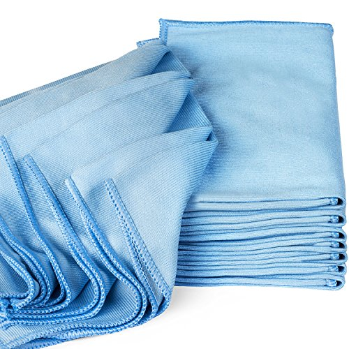 Zflow Microfiber Glass Cleaning Cloths - 8