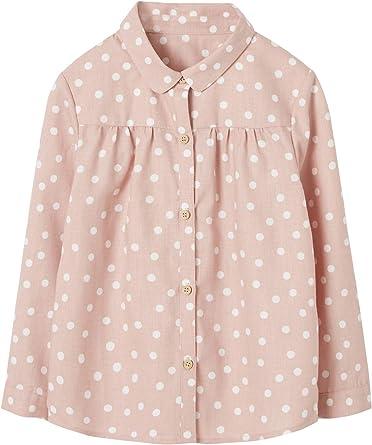 VERTBAUDET Camisa de Lunares para niña Rosa Claro Estampado ...