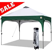ABCCANOPY Pop up Canopy Beach Canopy 10'x10' Bonus Backpack Carry Bag+4 Weight Bags+4 x Sandbags, 4 x Ropes&4 x Stakes