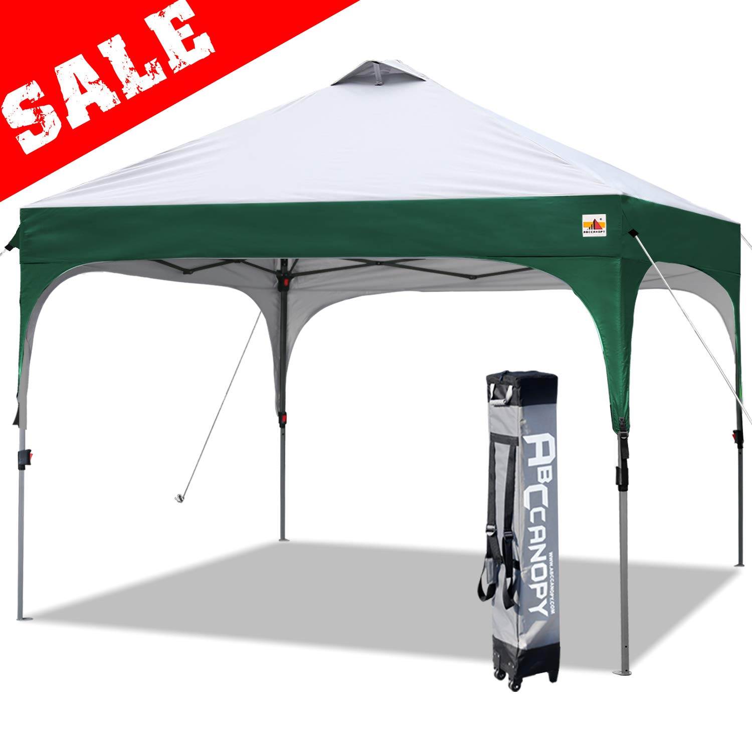 ABCCANOPY Pop Up Canopy Tent Commercial Canopy 10u0027 x 10u0027 Better Air Circulation Canopy Tents with Wheeled Carry Bag+4 x Sandbags 4 x Ropesu0026 4 x Stakes ...  sc 1 st  Amazon.com & Amazon.com : ABCCANOPY Pop Up Canopy Tent Commercial Canopy 10u0027 x 10 ...