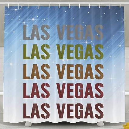 Amazon Jesus E Pecor Funny Viva Las Vegas Shower Curtain