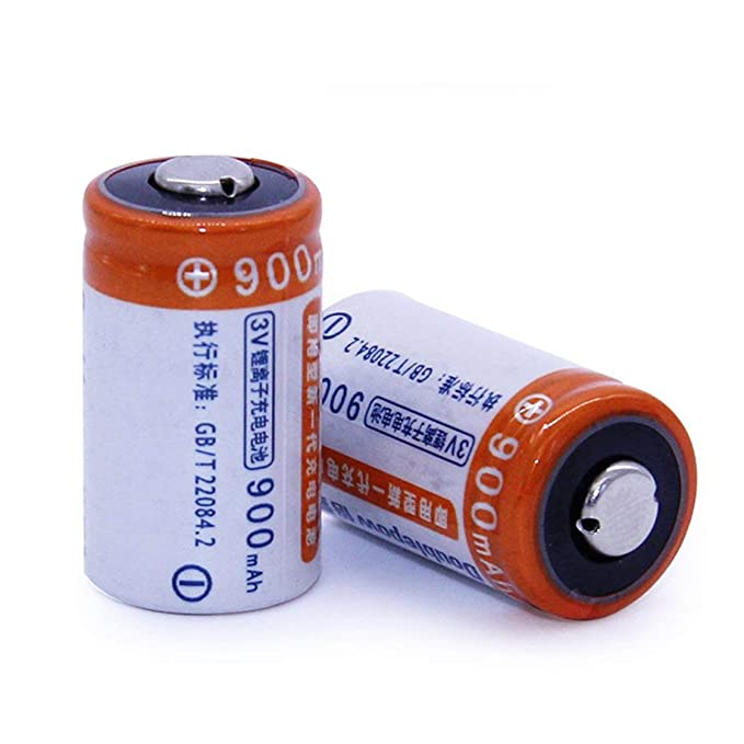 Gwendoll 2pcs / Lot 3.6V DC 900mAh CR2 batería Recargable Conjunto ...
