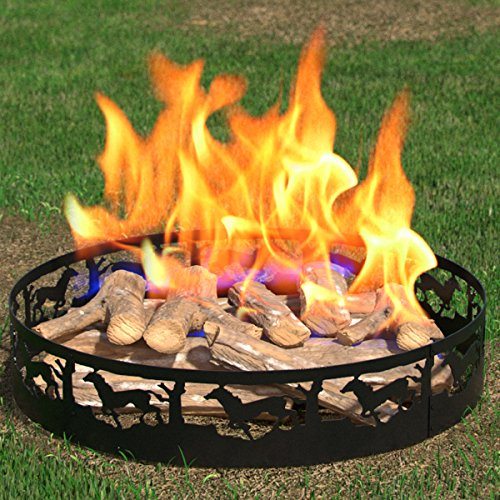 Regal Flame Boston Backyard Garden Home Running Horse Light Wood Fire Pit Fire Ring. For RV, Camping, and Outdoor Fireplace. Works as Firewood Patio Heater, Stove or Firebowl without Propane Gas by Regal Flame