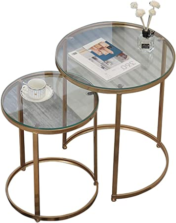 Tables Gigognes En Verre Table Basse Ronde Table D Appoint
