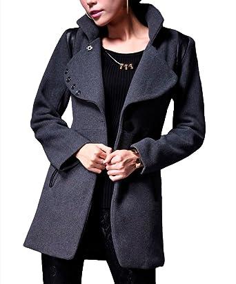 Amazon.com: Nite Closet Short Coats For Women Winter Wool Half Jacket  Trench Punk Mandarin Style Size 4 6: Clothing