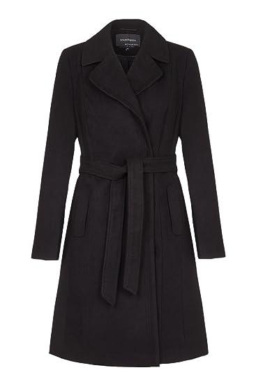 Anastasia - Abrigo de invierno con cinturón de mujer: Amazon.es: Ropa y accesorios
