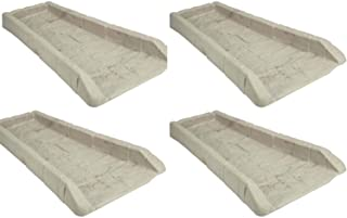 product image for 4 Pack Suncast SB24 Decorative Rain Gutter Downspout Splash Block- Light Taupe